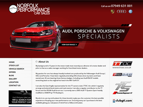 Norfolk Performance Car Sales