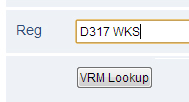 Vehicle VRM Data Lookup
